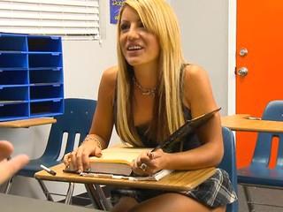 Perverted teacher examines gal