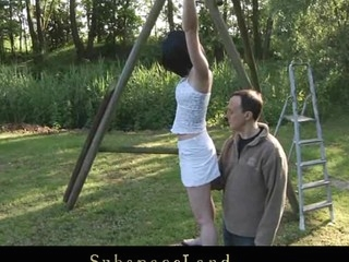 Restrained in ropes by her Dom teen slavegirl wench Friend Style is bare to painful punishment. Waxed and spanked she is wide opened for him to pussyfuck her deep whenever this chab wants to